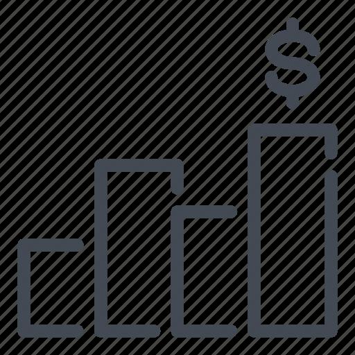 analytics, chart, finance, graph, marketing, money, statistics icon