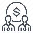 business, deal, dollar, man, money, people, person icon