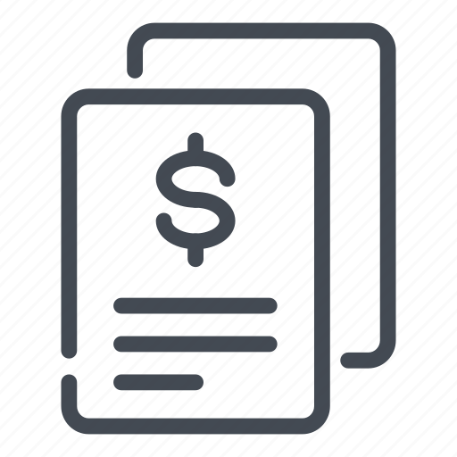 bill, contract, dollar, invoice, offer, receipt, salary icon