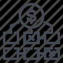 dollar, finance, marketing, money, plan, tactic icon