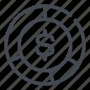 analytics, dollar, finance, graph, money, report icon
