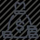 bag, bank, coin, money icon