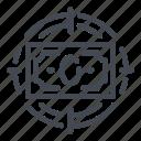 aim, dollar, money, note, plan, target icon