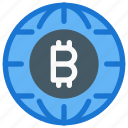 bitcoin, cryptocurrency, digital, international, payment system, trade, worldwide icon