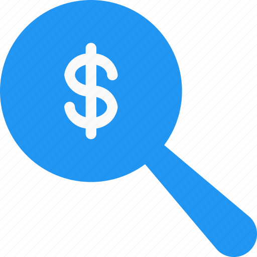 currency, dollar, find, fund, money, search, seek icon