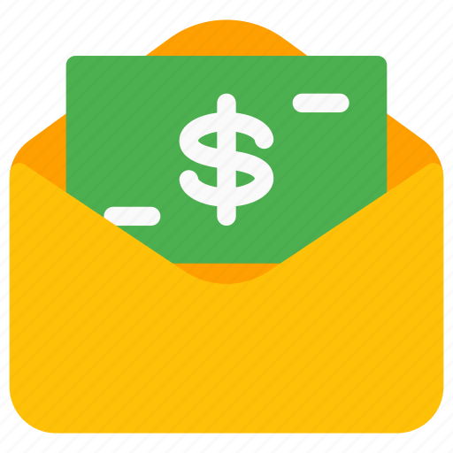 banknote, budget, currency, earning, envelope, gift, send money icon
