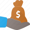 care, diamond, financial, give, investment, money, payment icon