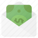 bill, envelope, money, payment, send icon