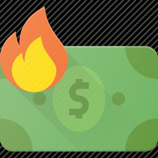 Burn, inflation, low, money, value icon - Download on Iconfinder