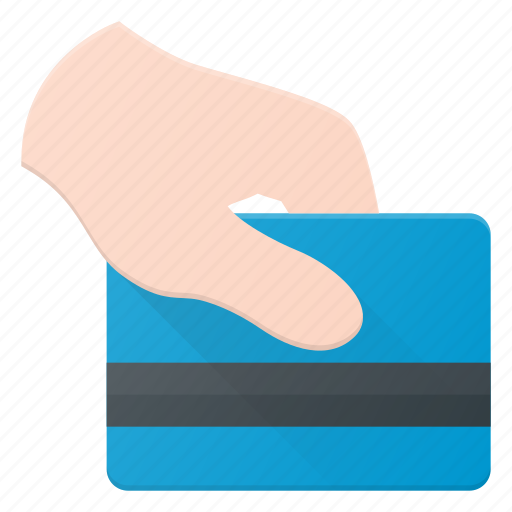 bank, card, credit, hand, pay, payment icon