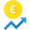 coins, currency, euro, finance, increase, money, stock