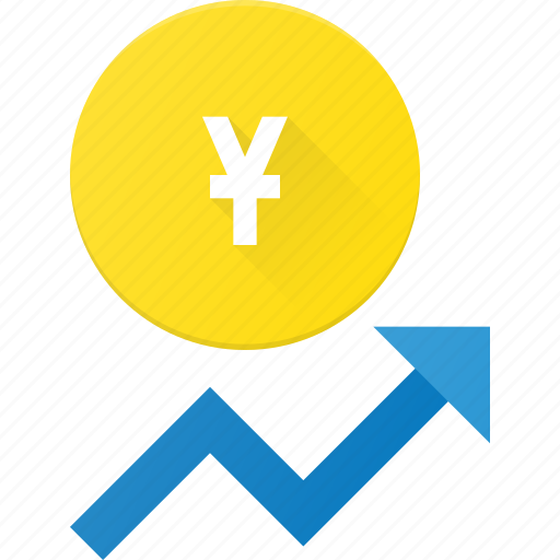 coins, currency, finance, increase, money, stock, yen icon