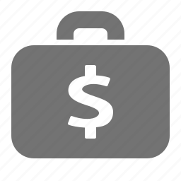 briefcase, business, dollar, finance, investment, money, payment icon