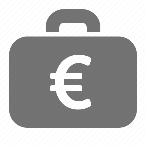 briefcase, business, currency, euro, investment, money, payment icon