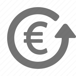 euro, finance, investment, money, profit, return, revenue icon