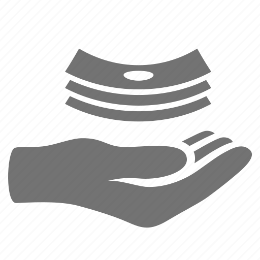 donation, give, hand, handout, holding, loan, money, payment icon