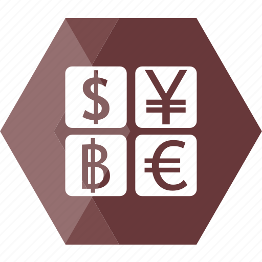 baht, banking, dollar, euro, exchange, finance, money icon