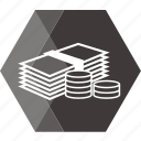 bank, cash, coin, dollar, ecommerce, money, price icon