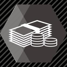 bank, cash, coin, dollar, ecommerce, money, price icon