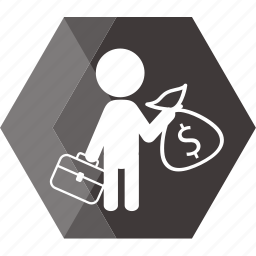 account, business, cashier, dollar, man, money, payment icon