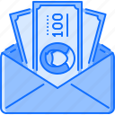 banknote, economy, envelope, finance, money icon