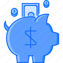 bank, box, coin, finance, money, save icon