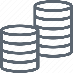 coin, coins, currency, money, payment, stack icon