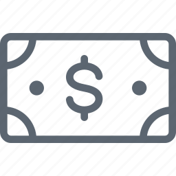 bill, business, cash, currency, dollar, finance, money icon