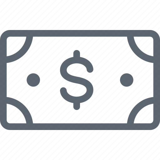 bill, business, cash, currency, dollar, finance, money icon