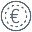 cash, coin, currency, euro, finance, money icon