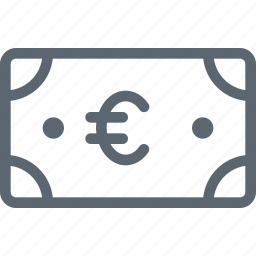 bill, business, cash, currency, euro, finance, money icon