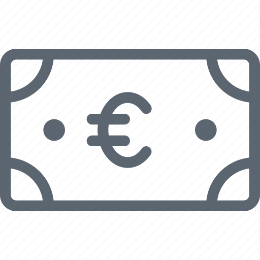 Bill, euro, business, cash, currency, finance, money icon - Download on Iconfinder