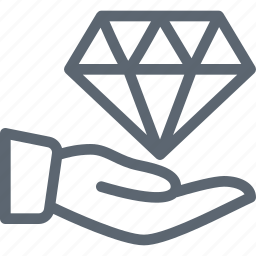 business, diamond, hand, hold, jem, whelth icon