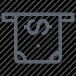 bank, cash, finance, insert, money, payment icon