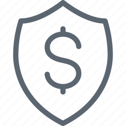 business, dollar, inshurance, money, protection, safe, shield icon