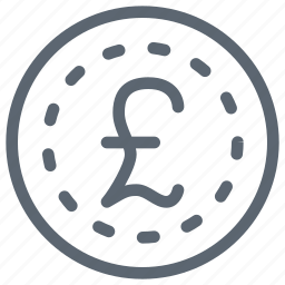coin, currency, financial, money, pound icon