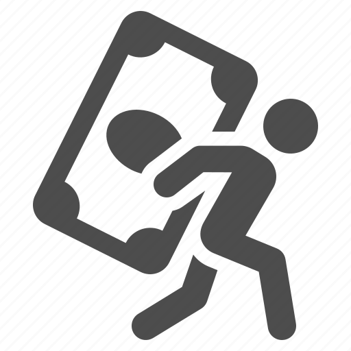 Bill, carry, debt, dollar, man, money, savings icon - Download on Iconfinder
