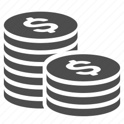 cent, coins, finance, money, stack, stacked icon