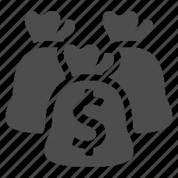 bag, bank, banking, dollar, finance, money, moneybag icon