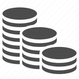 coins, finance, money, stack, stacked icon