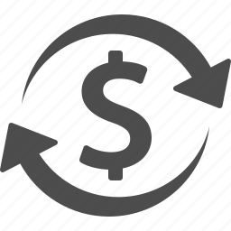 conversion, currency, dollar, exchange rate, money icon