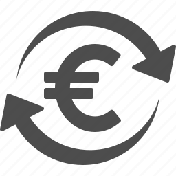 currency, euro, exchange rate, finance, money icon