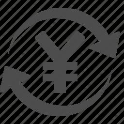 currency, exchange rate, money, yen, yuan icon