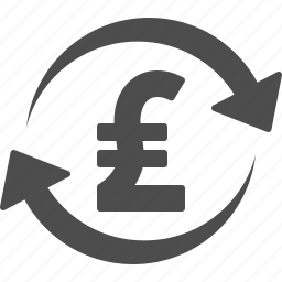arrows, conversion, exchange rate, pound icon