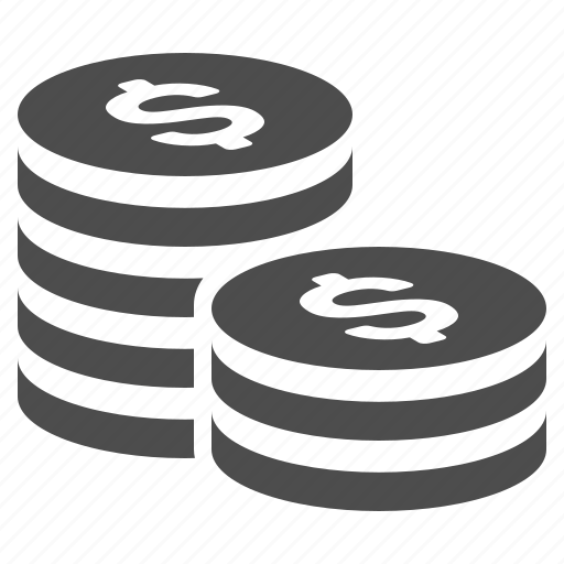 coin, coins, finance, stack, stacked icon