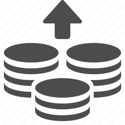 coin, coins, money, savings, stack, stacked icon
