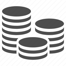 coin, coins, money, stack, stacked icon