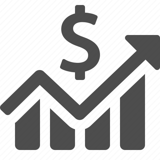 business, chart, dollar, finance, graph, money, profit icon