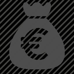 bag, bank, banking, euro, finance, money, moneybag icon