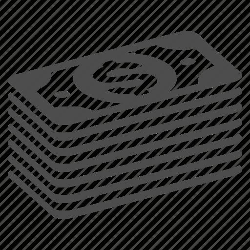 Banknote, bill, bills, dollar, finance, money, stack icon